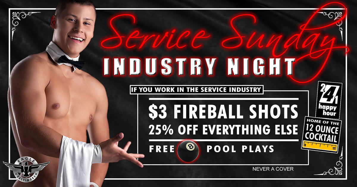 Service Industry Sundays - Special deals including $3 Fireball