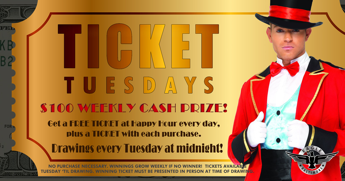 Ticket Tuesdays Cash Prizes