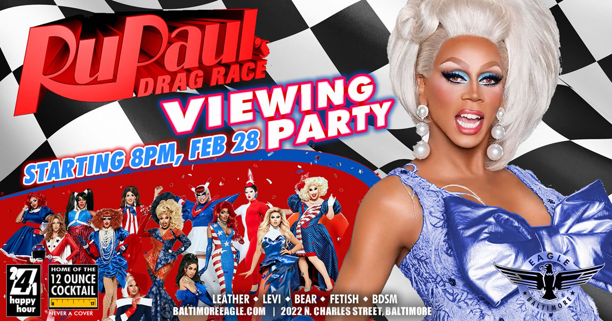 RuPaul Viewing Party Feb 28