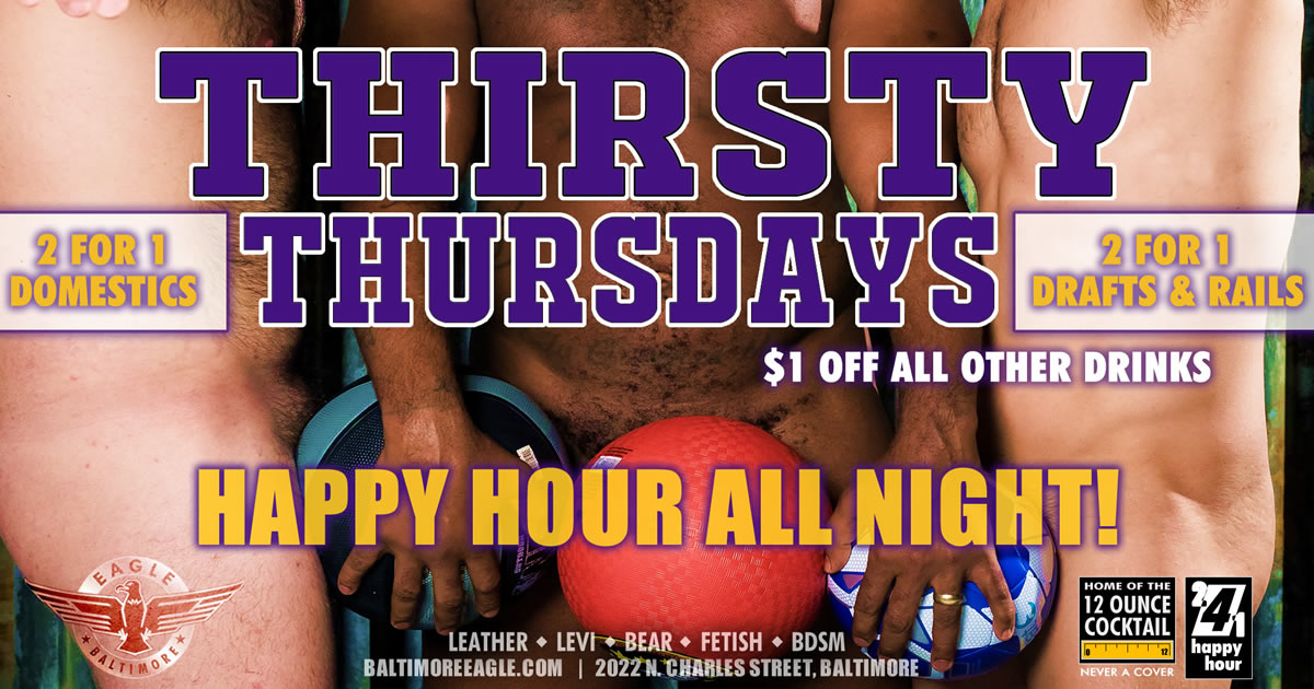 All night HAPPY HOUR on Thirsty Thursdays
