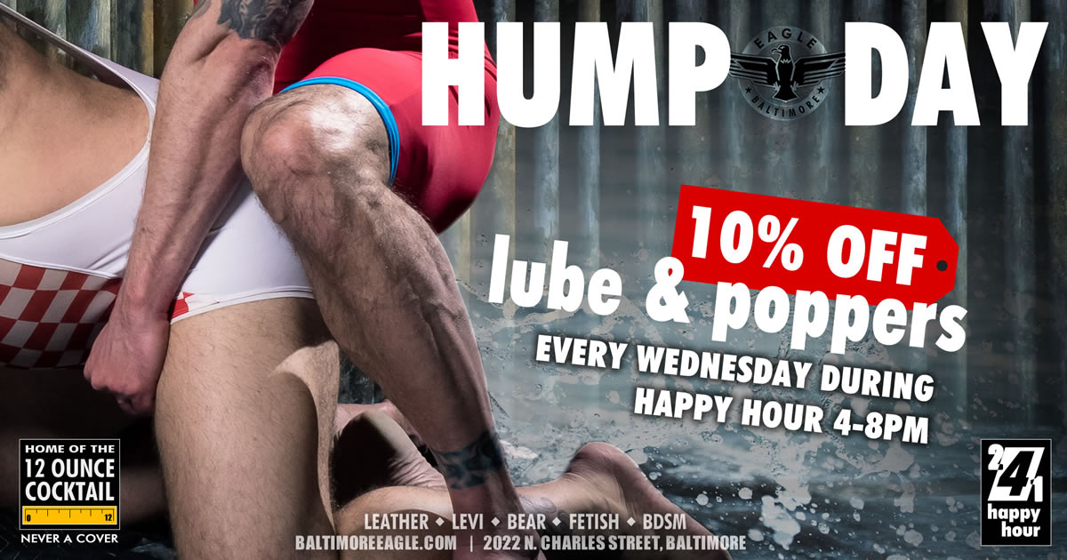Its Hump Day - 10% OFF Lube & Poppers