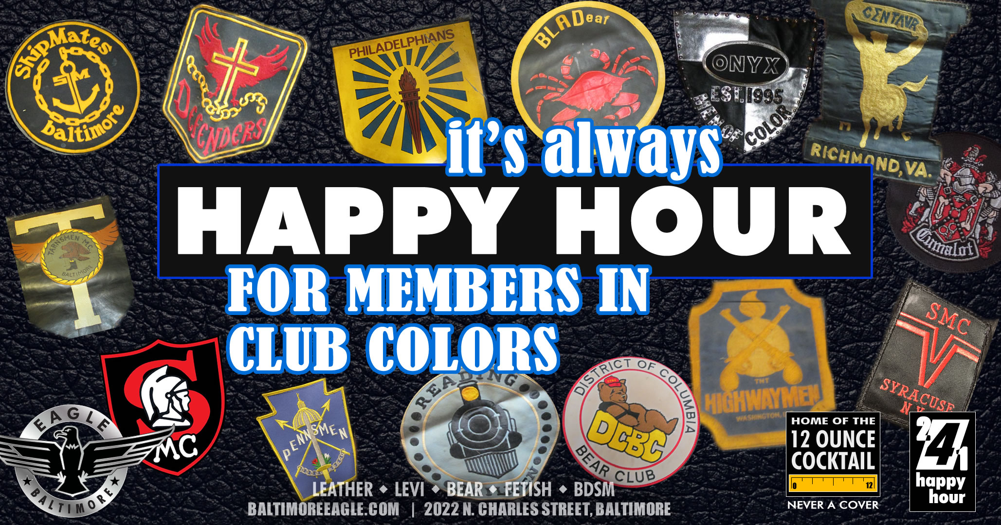 It's always HAPPY HOUR FOR CLUBS